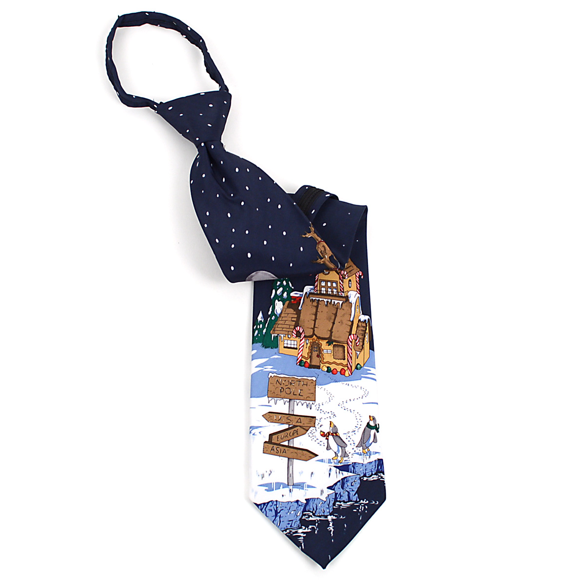 Poly CHRISTMAS Zipper Neck Tie PZX4603-NV