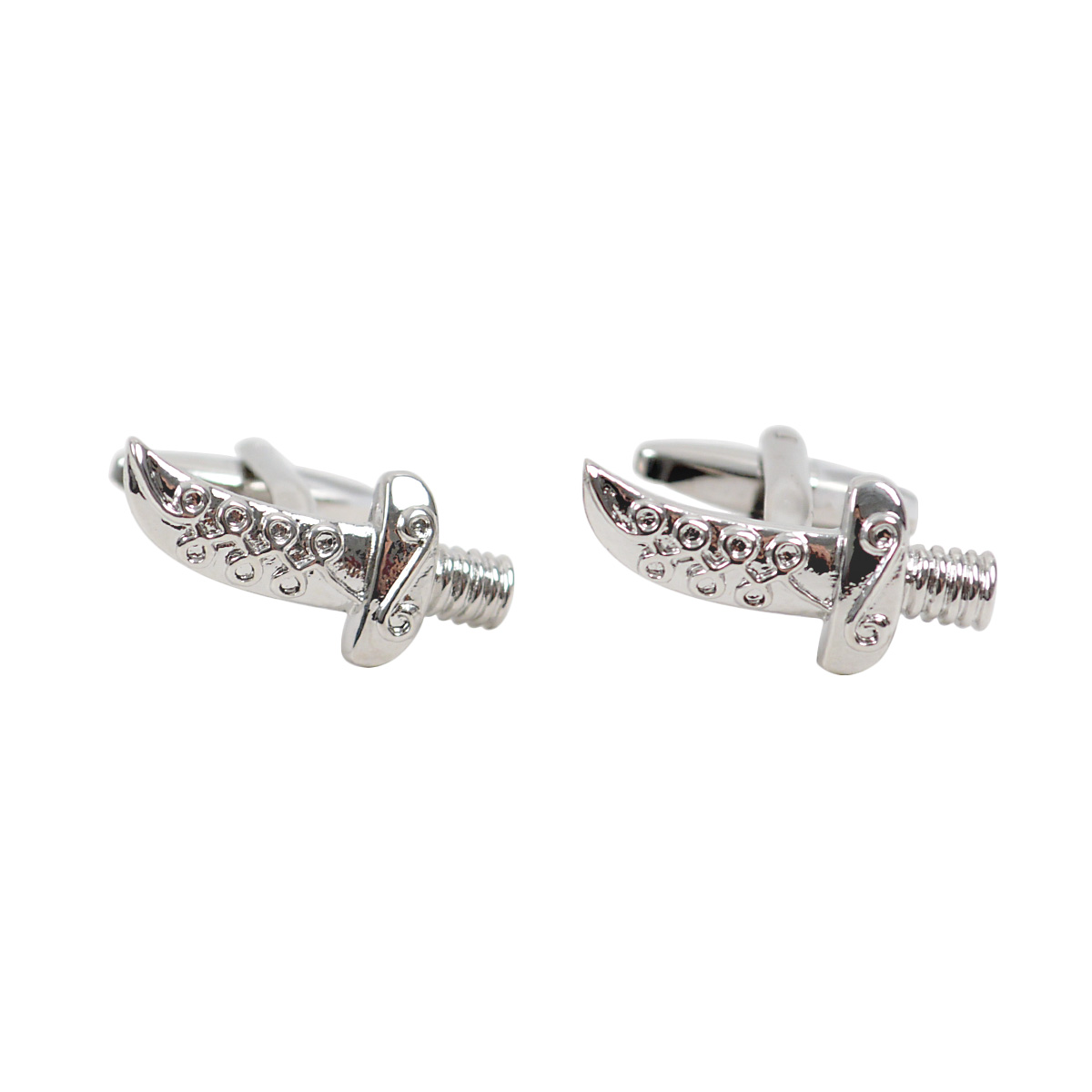 Silver Pirate DAGGER Sword Novelty Cufflink NCL1705-1