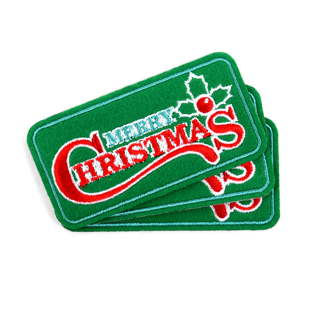 Christmas Embroidered Iron-On Winter Holiday PATCHES - Christmas