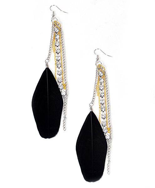 DANGLE Earrings Feathers - IME12036