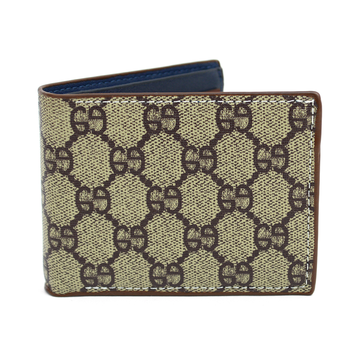 Bi-Fold Designer-Print LEATHER Wallet MLW5182