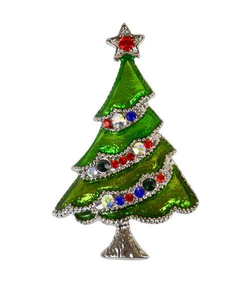 12pc. CHRISTMAS Tree Brooch JAB9885