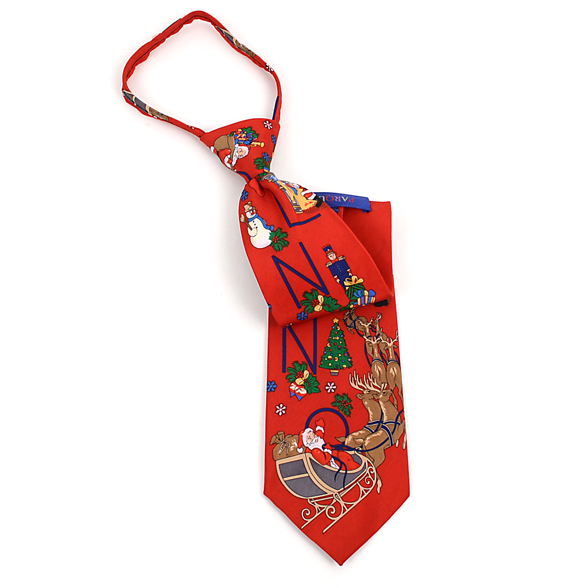 Poly CHRISTMAS Zipper Neck Tie PZX4600-RD