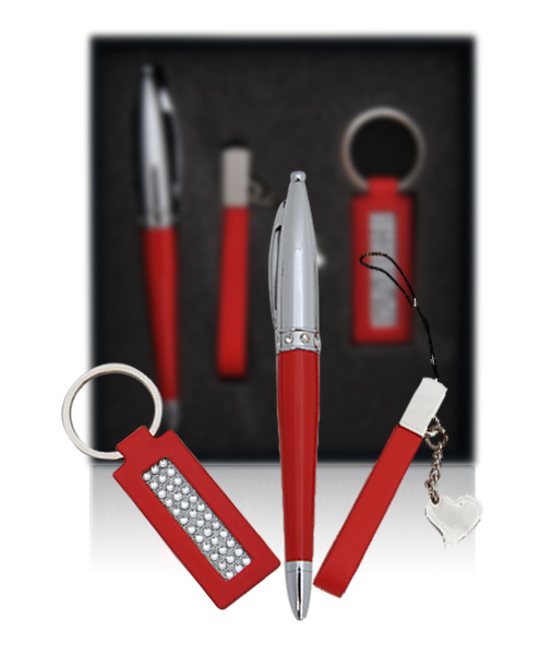 ''Burning Love PEN, Charm Strap & Keychain Gift Set PKS039''