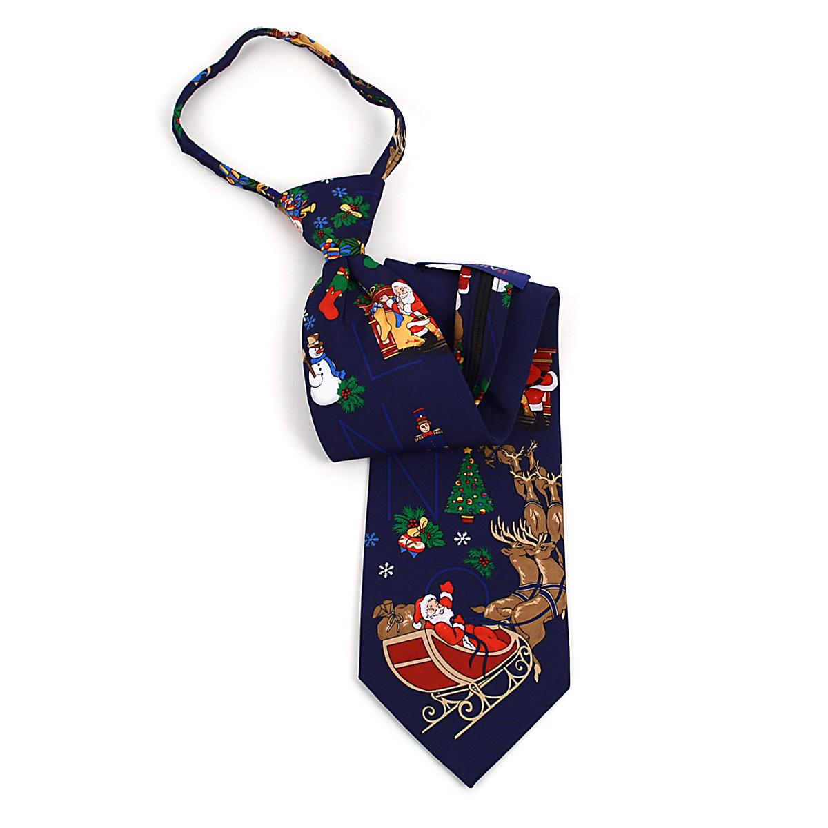 Poly CHRISTMAS Zipper Neck Tie PZX4600-NV